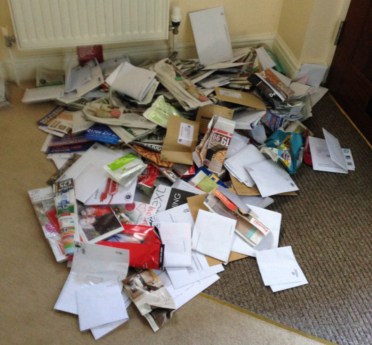 Tonnes of mail left behind