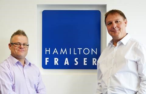 Paul Shamplina with Hamilton Fraser CEO, Eddie Hooker